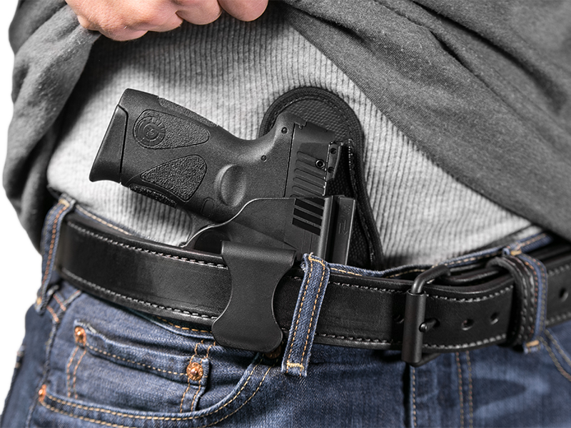 wearing the ruger lc9s aiwb holster