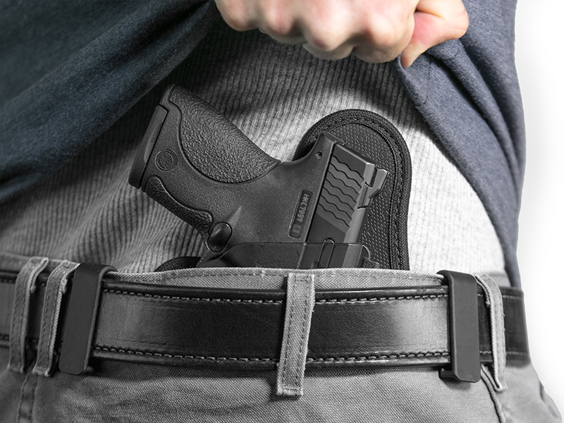 wearing the best shield iwb holster