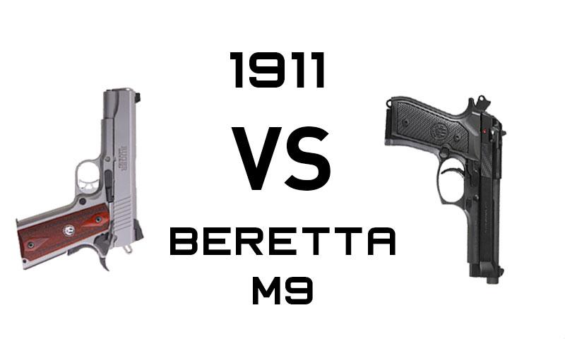 1911 vs Beretta M9: Battle Of The Service Guns - Alien Gear