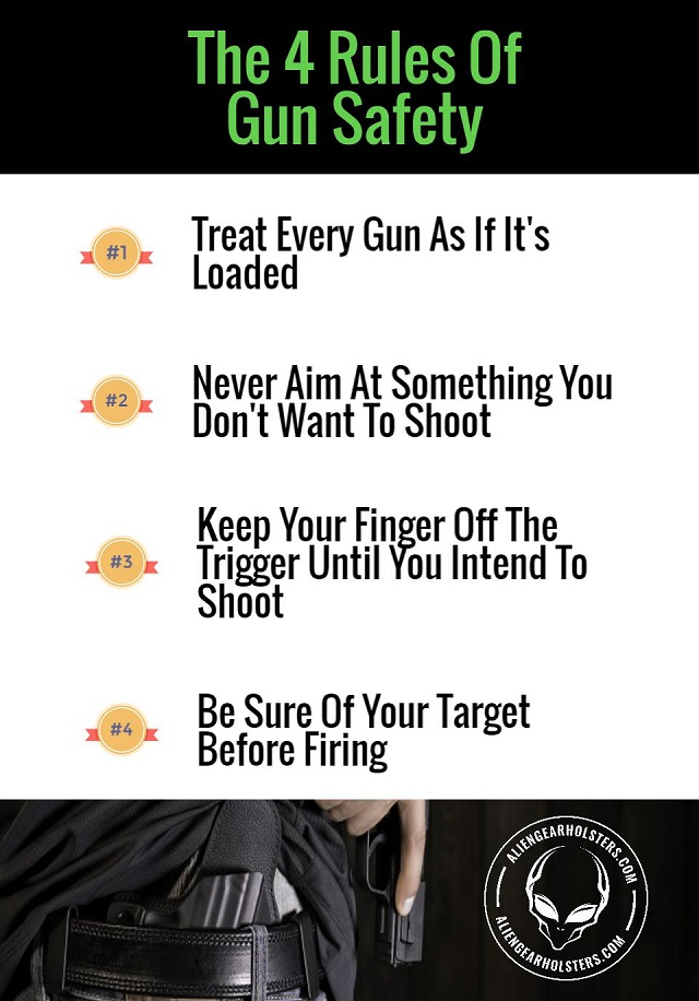 the 4 rules of                 gun safety