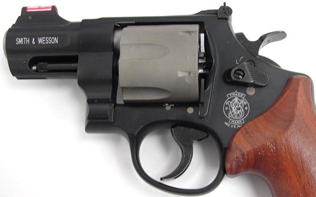 snubbie revolver in .45 caliber