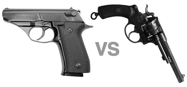 semi auto vs revolver