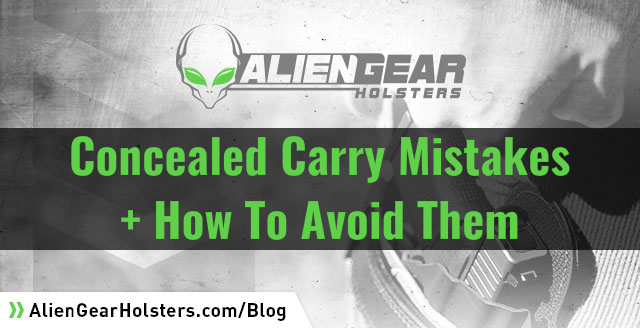 concealed carry mistakes