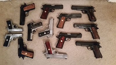 many choices of handgun available in 45 acp