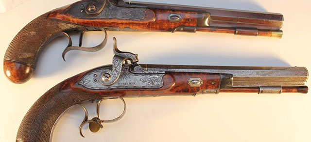 Some of the guns owned by Andrew Jackson