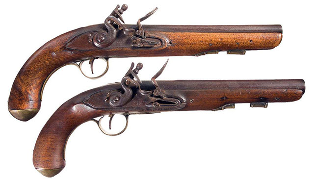 Damascus Saddle Pistols of George Washington
