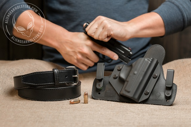 holster for carrying a gun