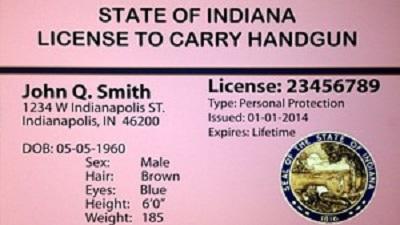 Indiana open carry permit exmaple