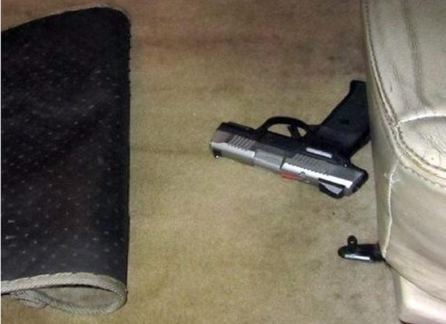 gun under car seat