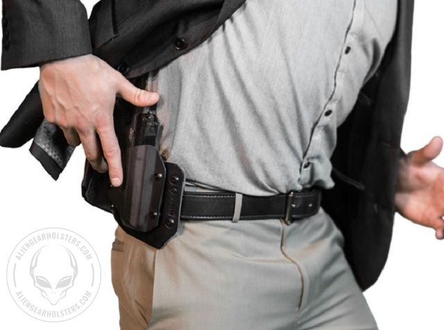 wearing a holster in a suit