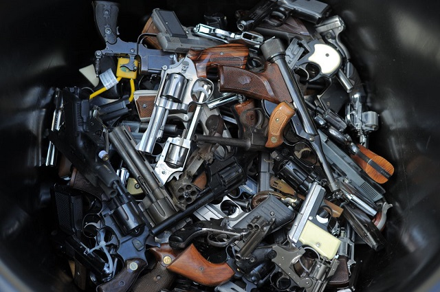 Guns were confiscated in the aftermath of Hurricane Katrina