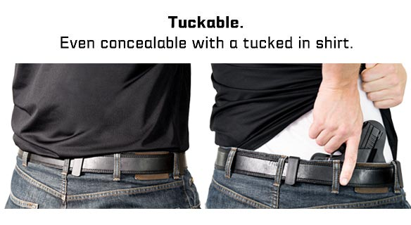 Tuckable concealed carry.