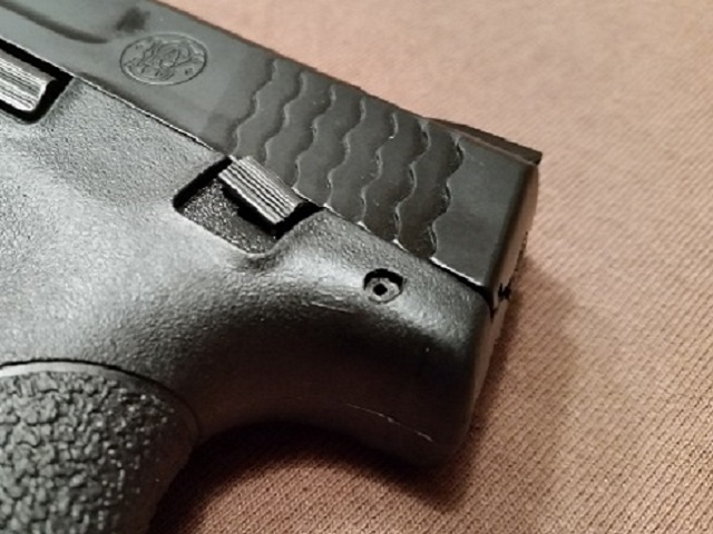 The safety on the M&P Shield