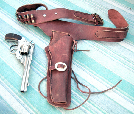 Old western style drop leg holster