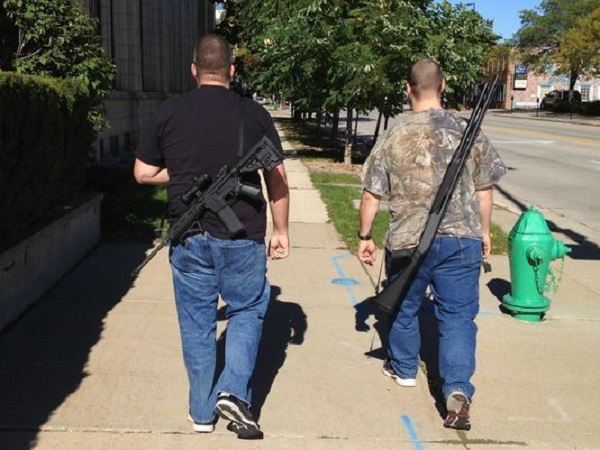 Openly carrying rifles and shotguns