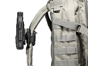 polymer backpack strap holster on shapeshift platform