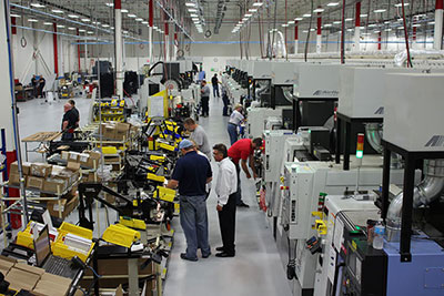 Part of Ruger's factory production floor