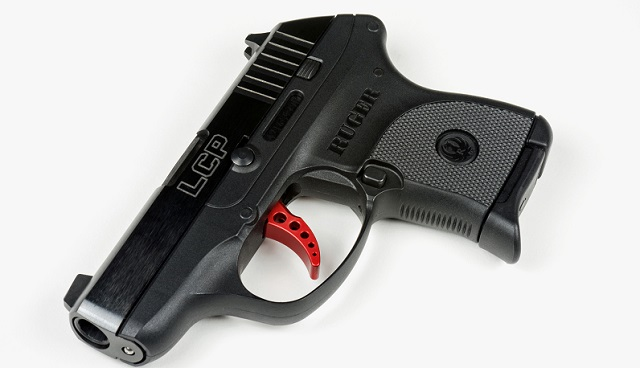 ruger lcp pistol on its side
