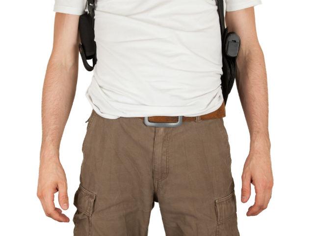 guide to shoulder holster