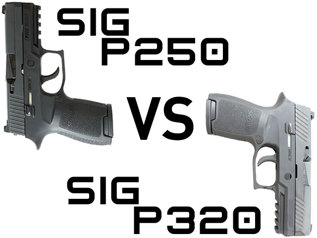 The Sig P250 vs the modular Sig P320 for concealed carry