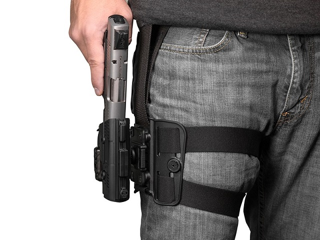 Wearing Drop Leg Holster with larger firearm