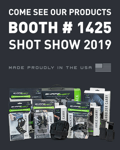2019 alien gear shot show booth